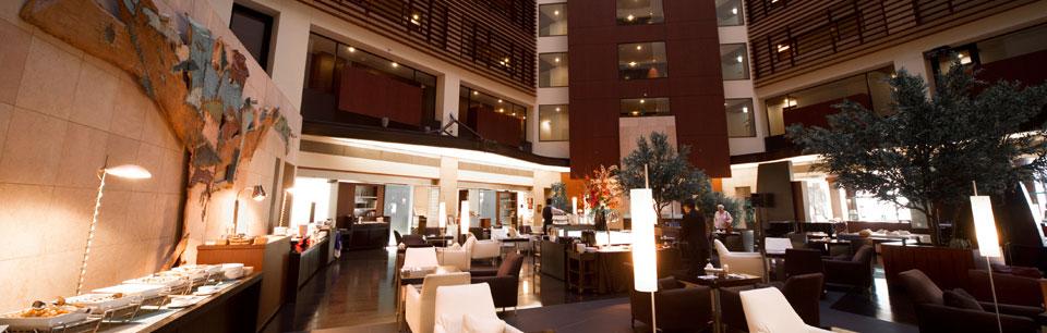 Bar and restaurant lobby