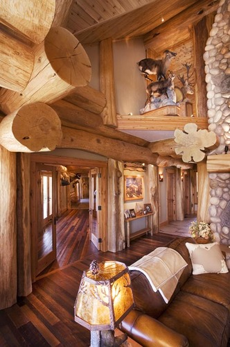 back to roots back to wood with log home interiors. Black Bedroom Furniture Sets. Home Design Ideas