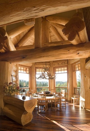 Back to roots back to wood with log home interiors for Dream wooden house