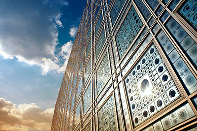 jean nouvel architecture is not to build up space but to build