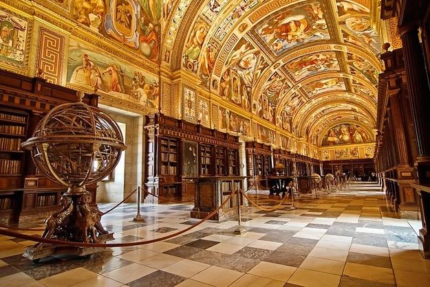 Library of El Escorial Madrid
