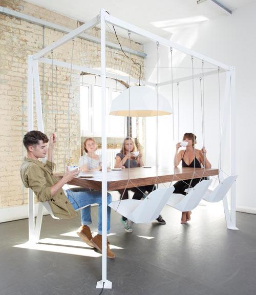 Dining table with slides @RuarteContract alta decoración en madera