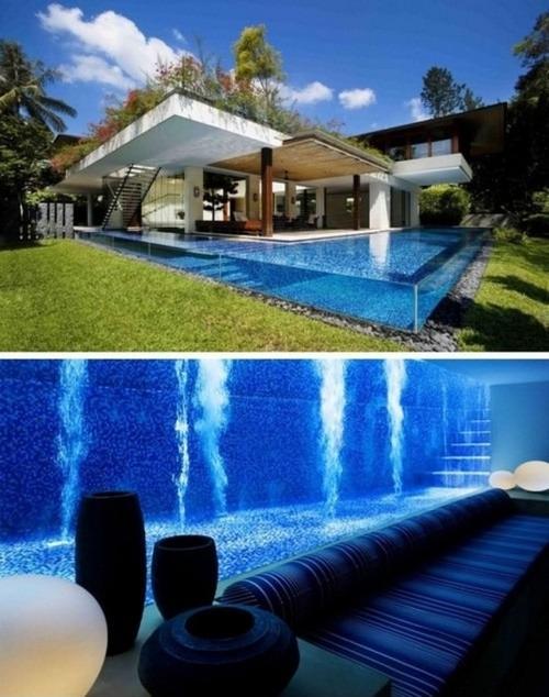 20 ideas para casas de ensue o escaleras tobog n for Ideas para piscinas