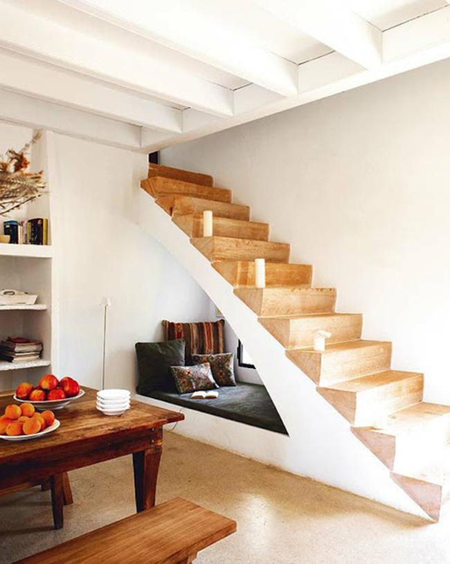 Rincón de lectura @RuarteContract alta decoración en madera