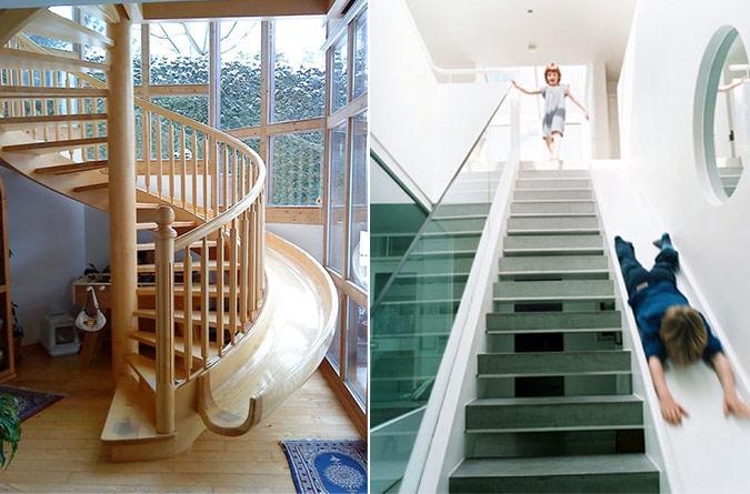Slide stairways @RuarteContract alta decoración en madera