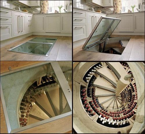 Wine cellar-staircase @Ruarte Contract alta decoración en madera