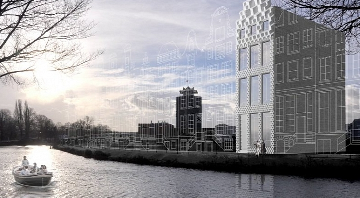 Building-3D-Printed-House-in-Amsterdam-Video 3D print Canal House @RuarteContract
