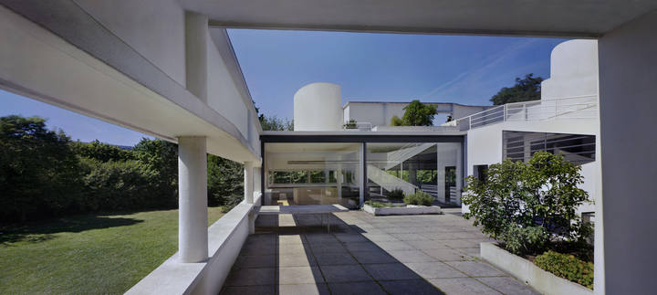 Villa Savoye, Poissy 1928-1931 Vista del patio @ruartecontract