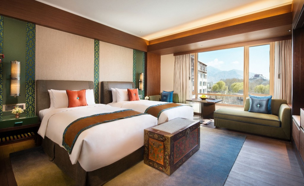 Best Urban Hotels Wallpaper @RuarteContract hoteles Shangri La Lhasa Tibet 2