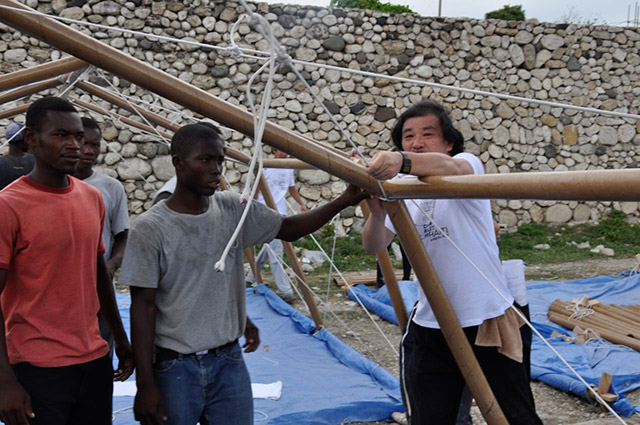 Paper emergency shelter, Port-au-Prince, Haiti , Shigeru Ban @RuarteContract
