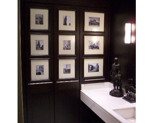 apartment Madrid @RuarteContract wenge bathroom modern design