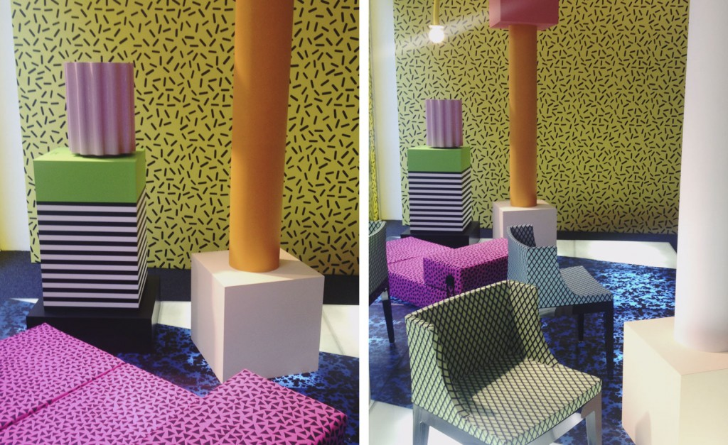 Furniture isaloni 2015 @RuarteContract Kartell revived the spirit of the late, great Ettore Sottsass with a bright display of original styles