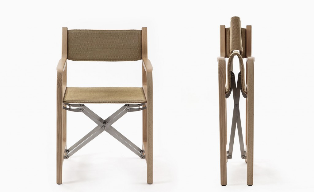 Furniture isaloni 2015 Milan-based architect Michele de Lucchi designs the 298 chair - a foldable wooden director's chair- for Cassina @RuarteContract