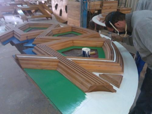 Diseño, construcción e instalación de decoración en madera, techos, puertas y mueble Restaurante Castillo de Izán Burgos @RuarteContract (4) (Medium) (Custom)