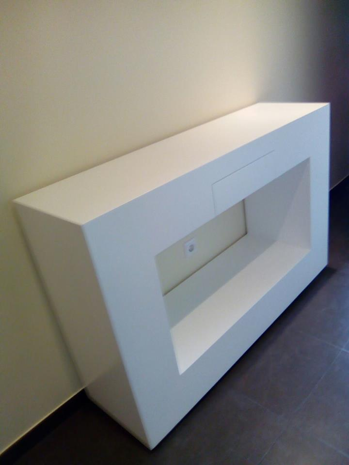 Mueble Ruarte Contract apartamento lacado y chapa de fresno natural Madrid